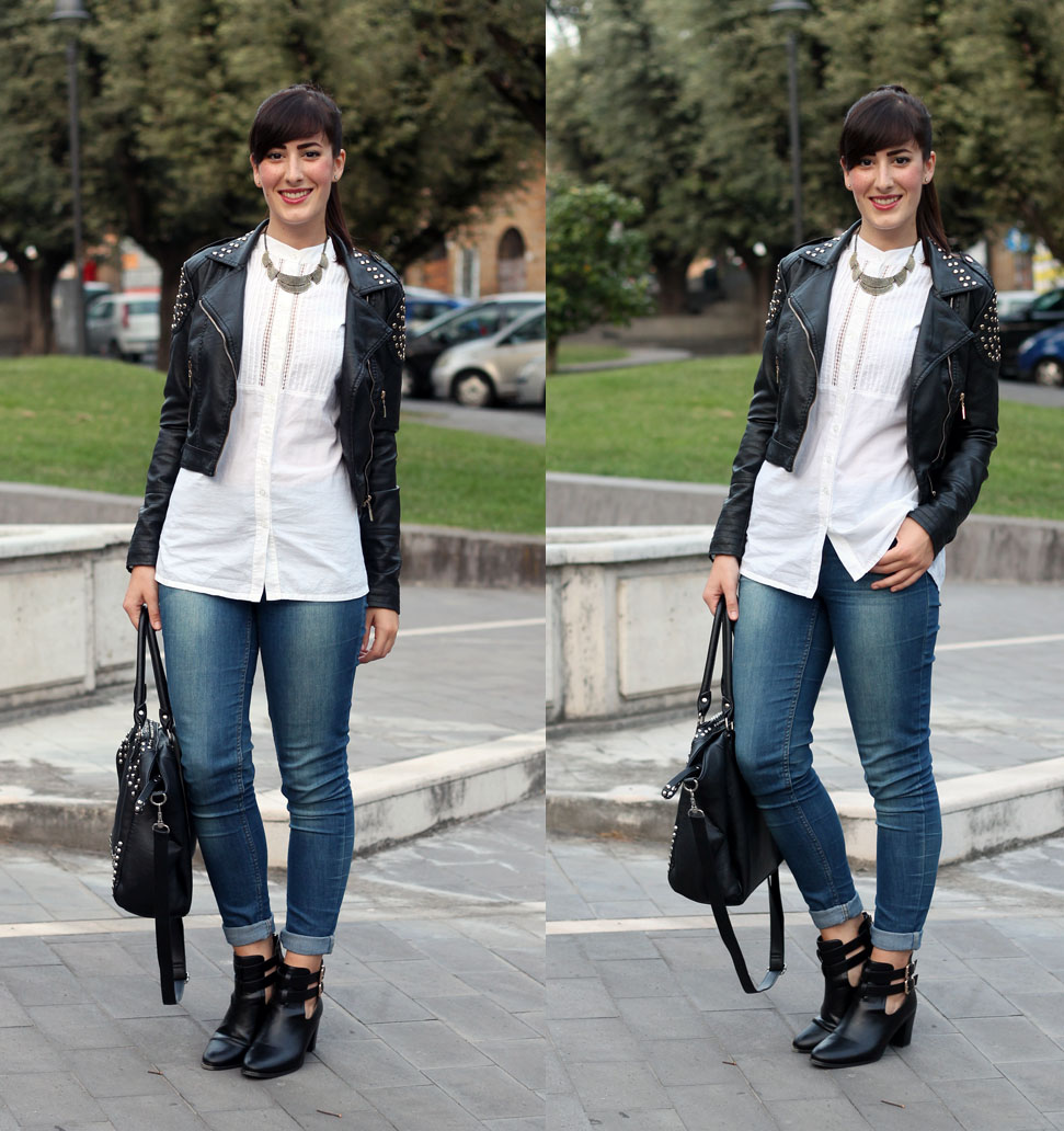 outfit autunno cut out boots fashion blogger roma