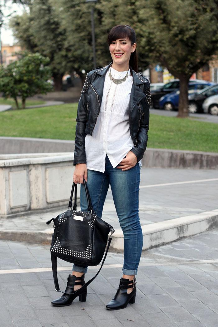 Favoloso Black&White: un outfit rock con i miei nuovi cut out boots | Le Freaks ZI57