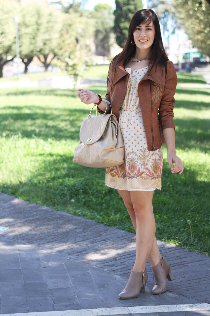outfit autunno desigual friend and family fashion blogger roma