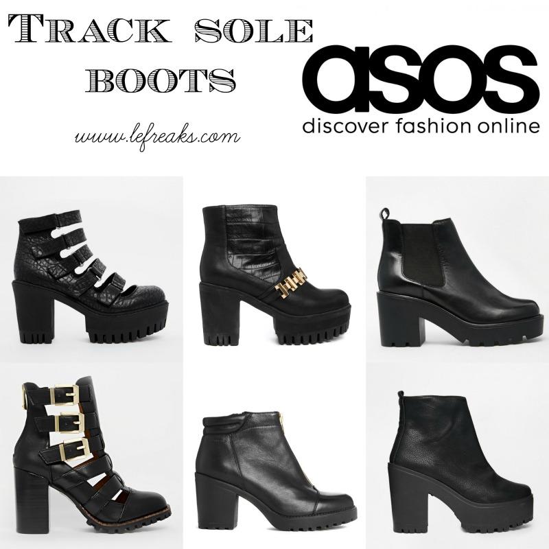 asos track sole boots tendenze moda scarpe autunno inverno 2014