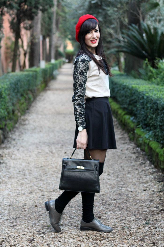 outfit-bon-ton-college-parigi-stringate-basco-3b