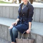 outfit alla marinara primavera trench lidl skinny jeans mocassini