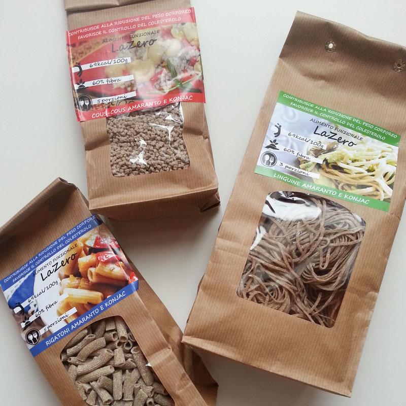 ricetta light pasta dieta linguine farina amaranto konjac