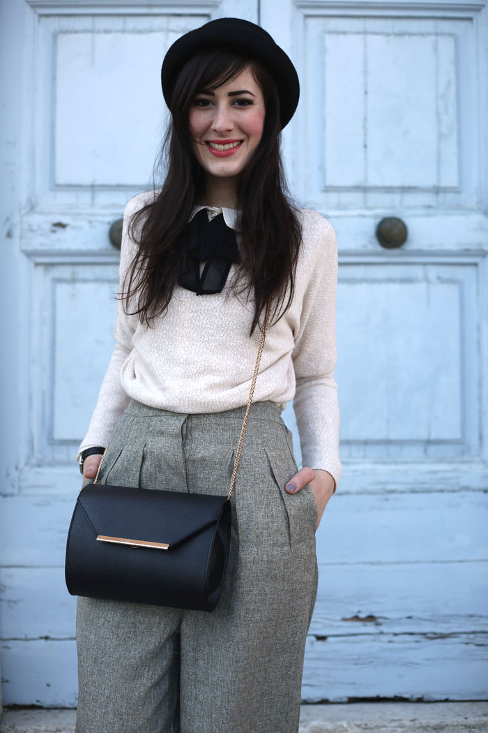 outfit-british-bon-ton-pantaloni-culotte-bombetta-4