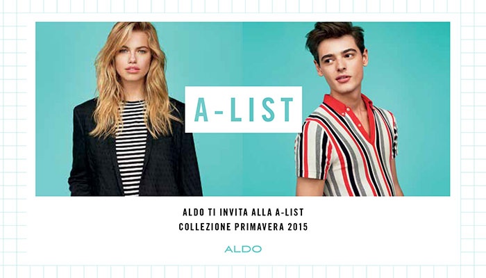 aldo shoes a-list event via del corso roma