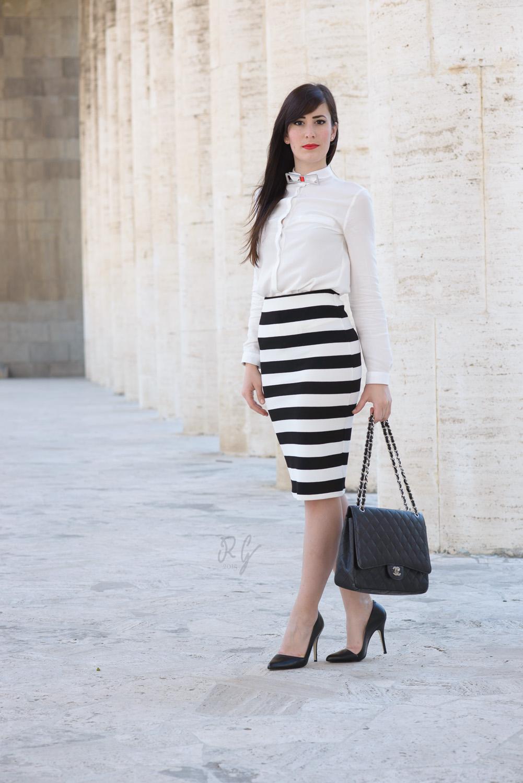 outfit bianco nero sp soulandpassion lady gonna tubino