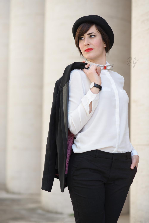 outfit bianco nero sp soulandpassion gentleman garçonne
