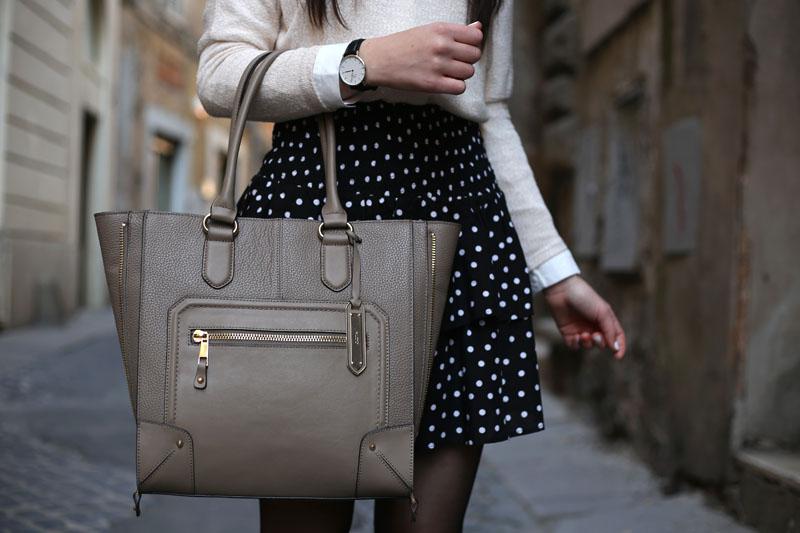 outfit-ufficio-bon-ton-gonna-pois-stringate-occhiali-11