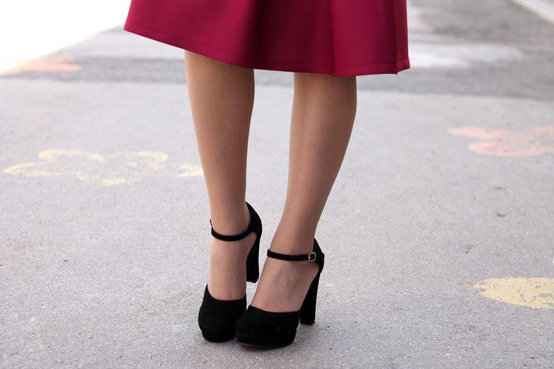 outfit primavera vintage bon ton gonna a ruota blusa trench