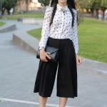 outfit pantaloni culotte cut out boots