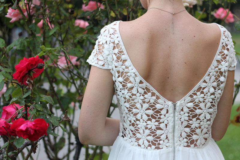 outfit estivo romantico vestito pizzo sheinside espadrillas