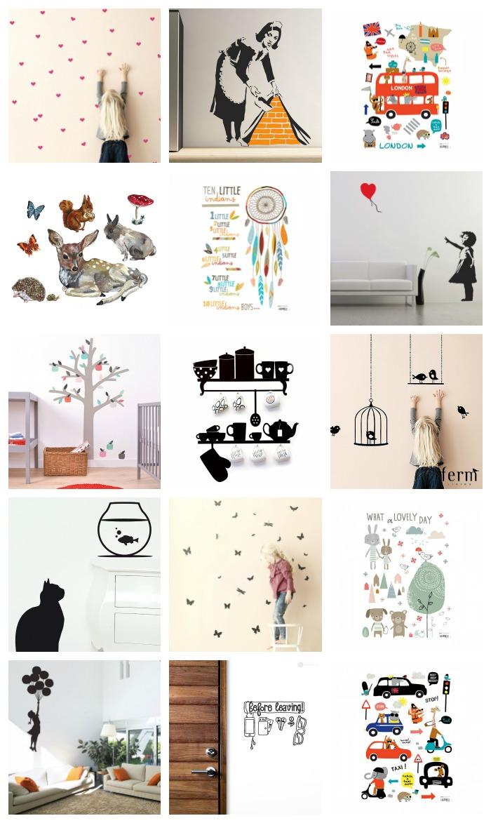 Home decor gli stickers per le pareti e tanta fantasia for Stickers pareti