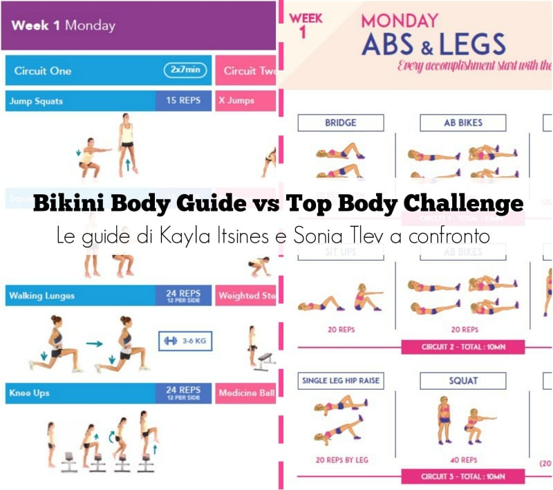 Eccezionale Bikini Body Guide vs Top Body Challenge: le guide di Kayla e Sonia  OC94