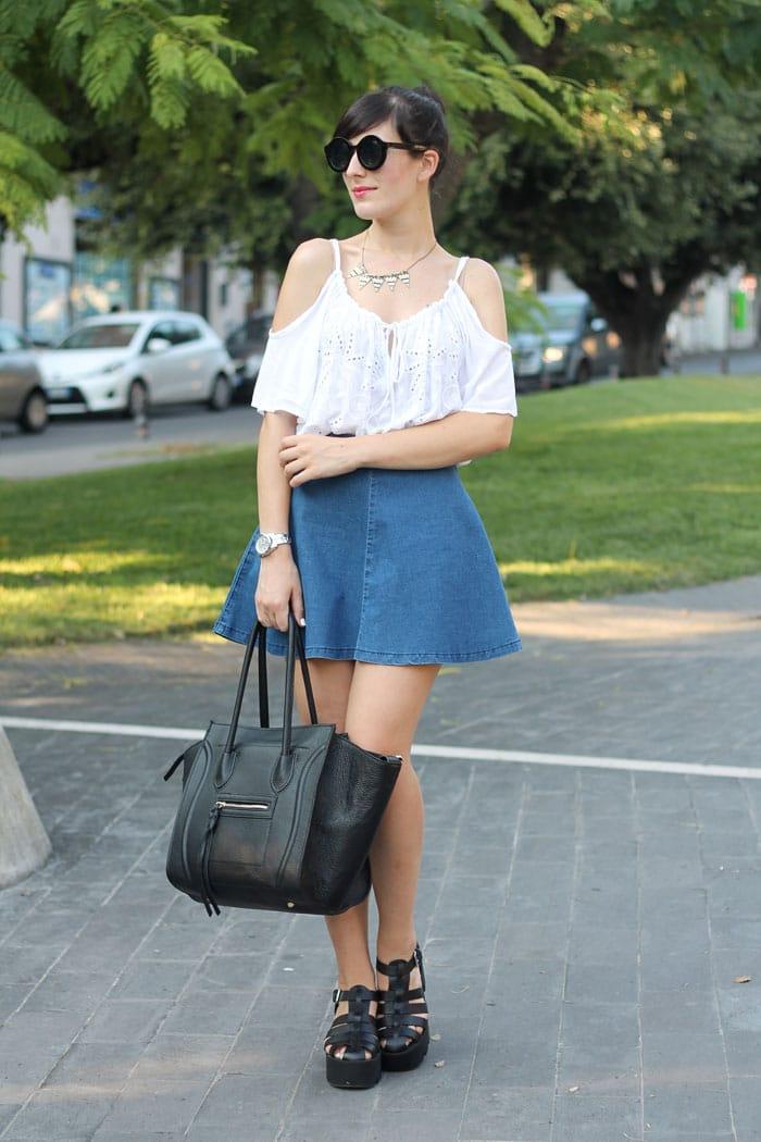outfit-anni-90-gonna-jeans-scarpe-cult-shoes-borsa-celine-3