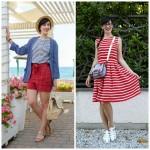 outfit alla marinara bianco rosso blu classici estate