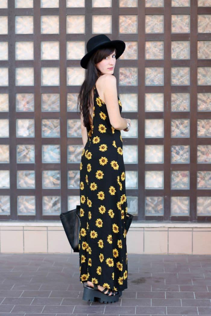 outfit grunge anni 90 vestito girasoli persunmall