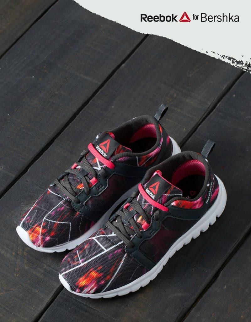 bershka reebok sneakers city maps fitness