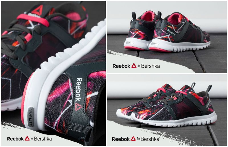 bershka reebok sneakers city maps fitness