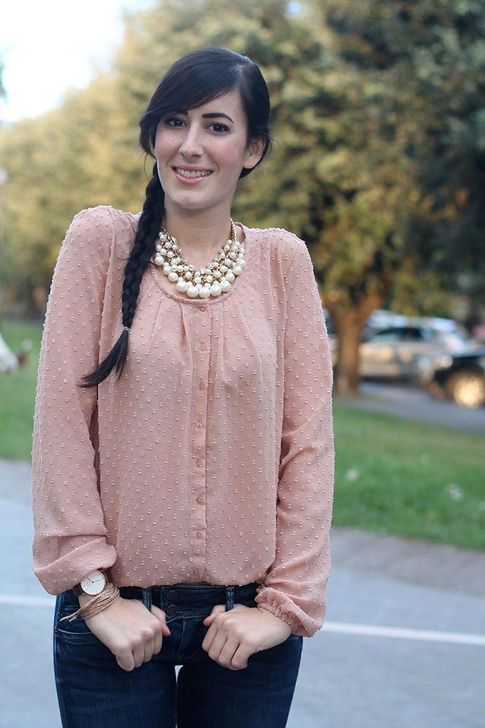 outfit bon ton con jeans a zampa borsa parigi ynot