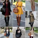 outfit stivali cuissardes sopra al ginocchio moda tendenze inverno 2015
