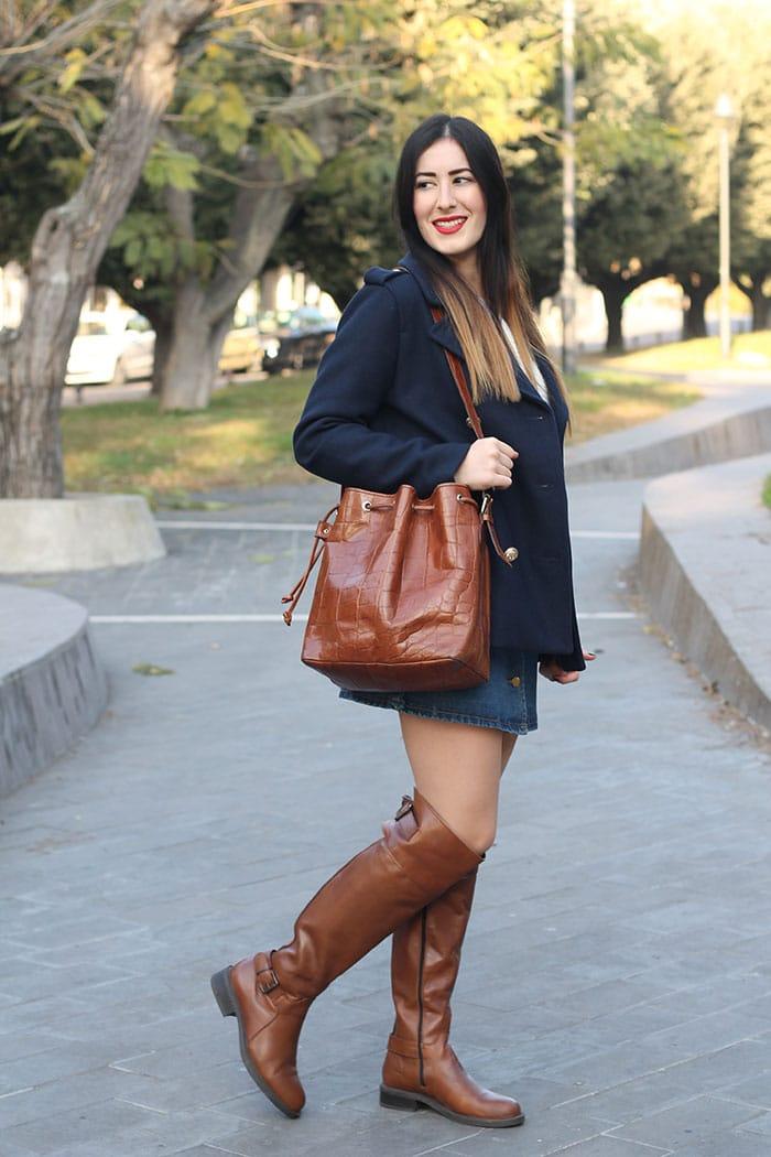 outfit-cappotto-petit-bateau-stivali-cuissardes-gonna-jeans-9
