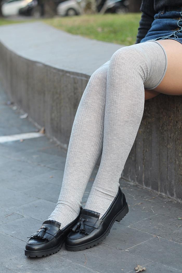 outfit college scuola parigine mocassini pittarello