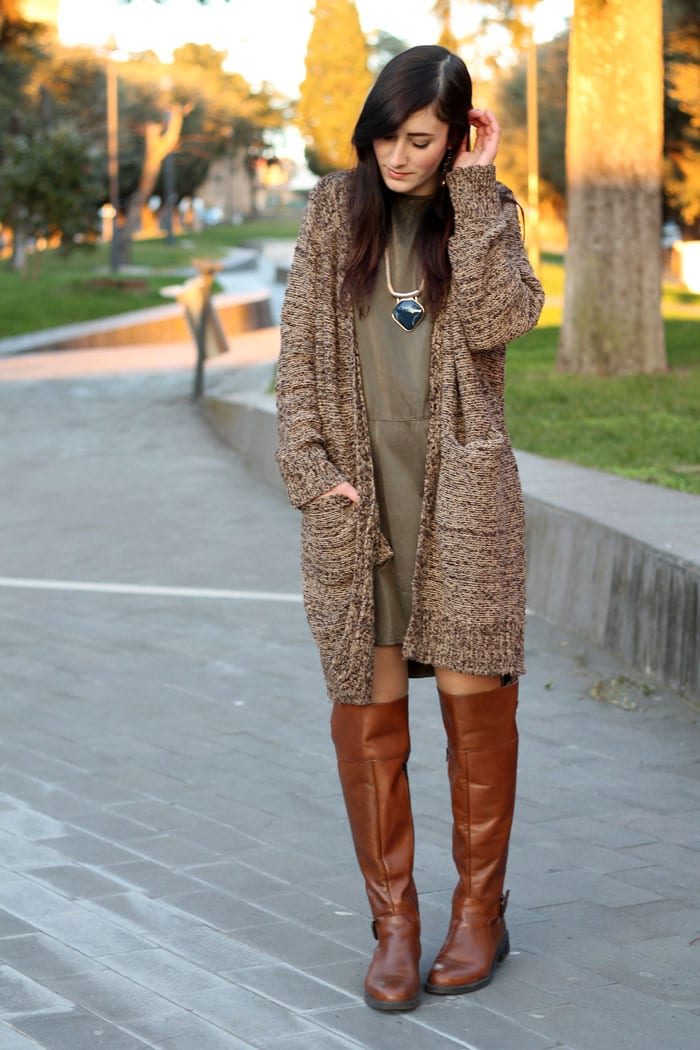 outfit-comfy-vestito-triple-a-cardigan-sheinside-stivali-aldo-shoes-2
