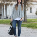 outfit maglione oversize adidas superstar normcore casual sporty chic