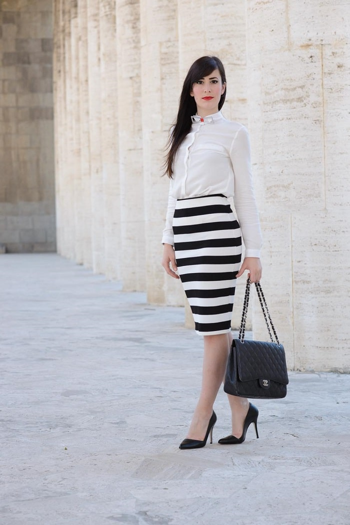 Ben noto Come indossareUna longuette a righe | Le Freaks VC05