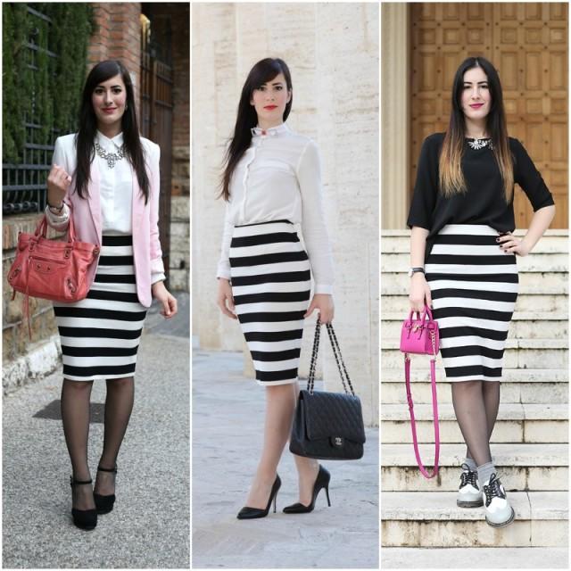 outfit-come-indossare-la-gonna-longuette-a-righe