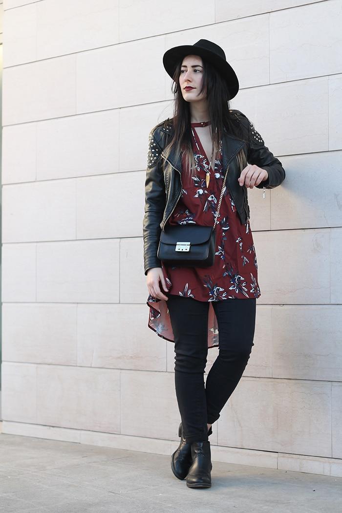 outfit-boho-chic-vestito-floreale-cappello-4