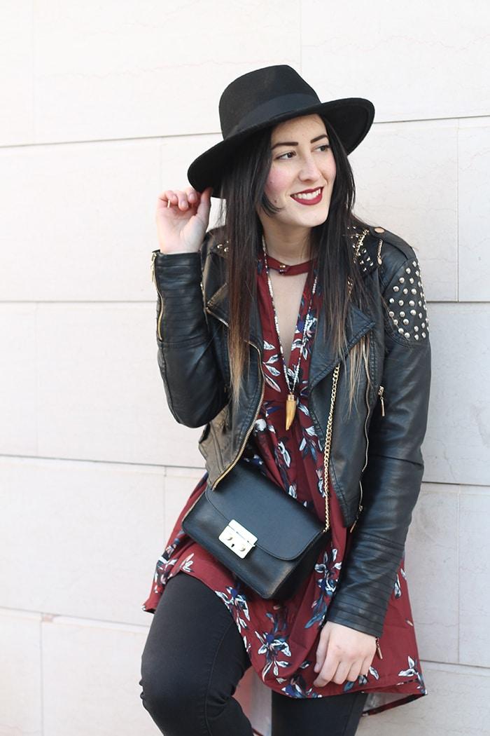 outfit-boho-chic-vestito-floreale-cappello-5