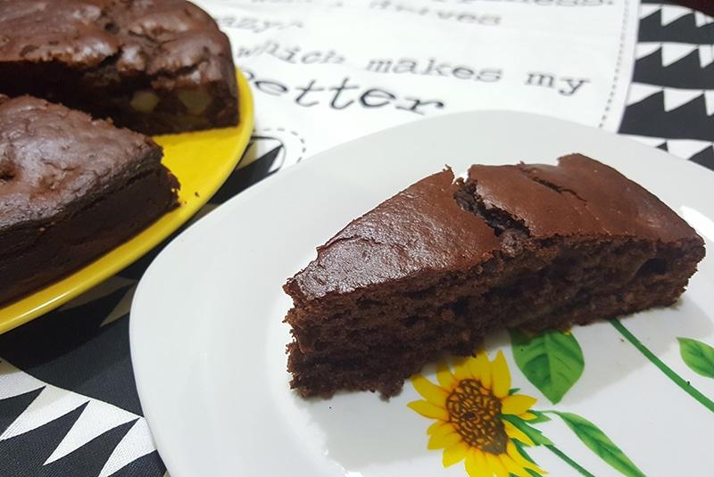 ricetta vegana torta pere e cioccolato