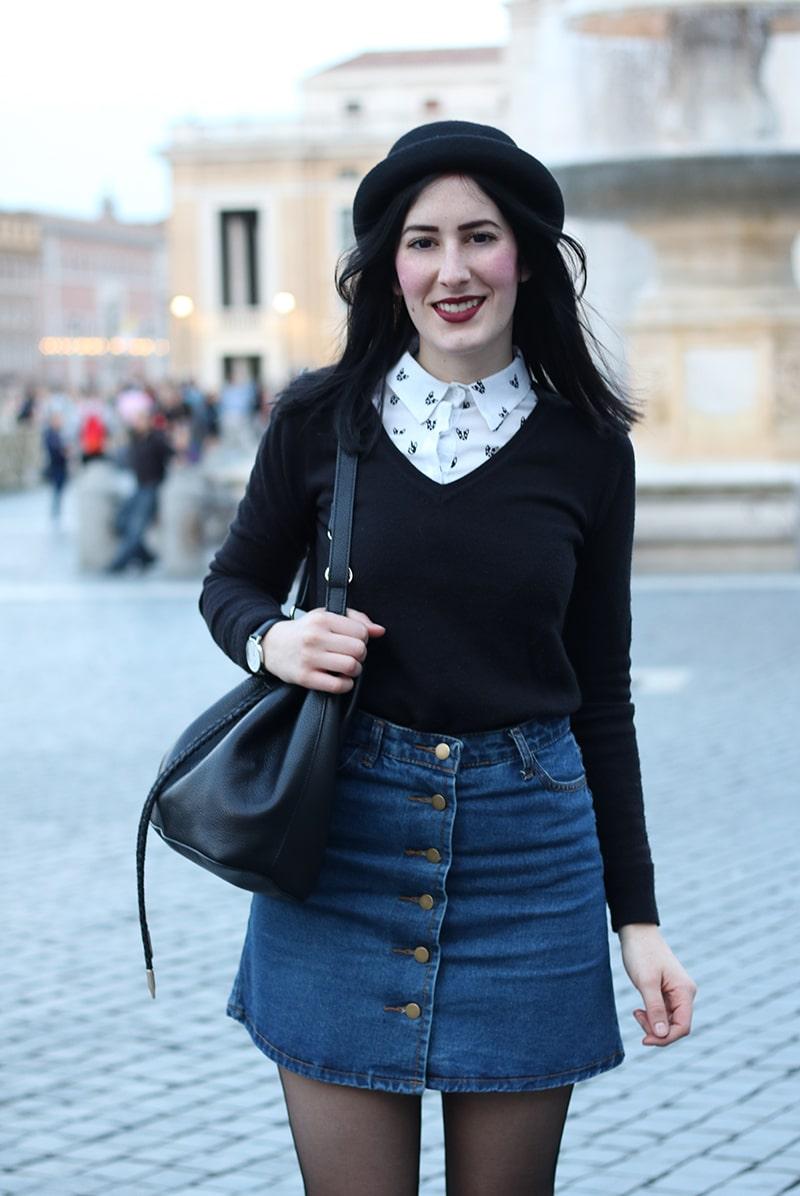 outfit-hipster-gonna-jeans--bombetta-borsa-secchiello-accessorize-11