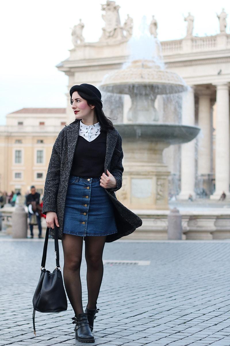 outfit-hipster-gonna-jeans--bombetta-borsa-secchiello-accessorize-1a