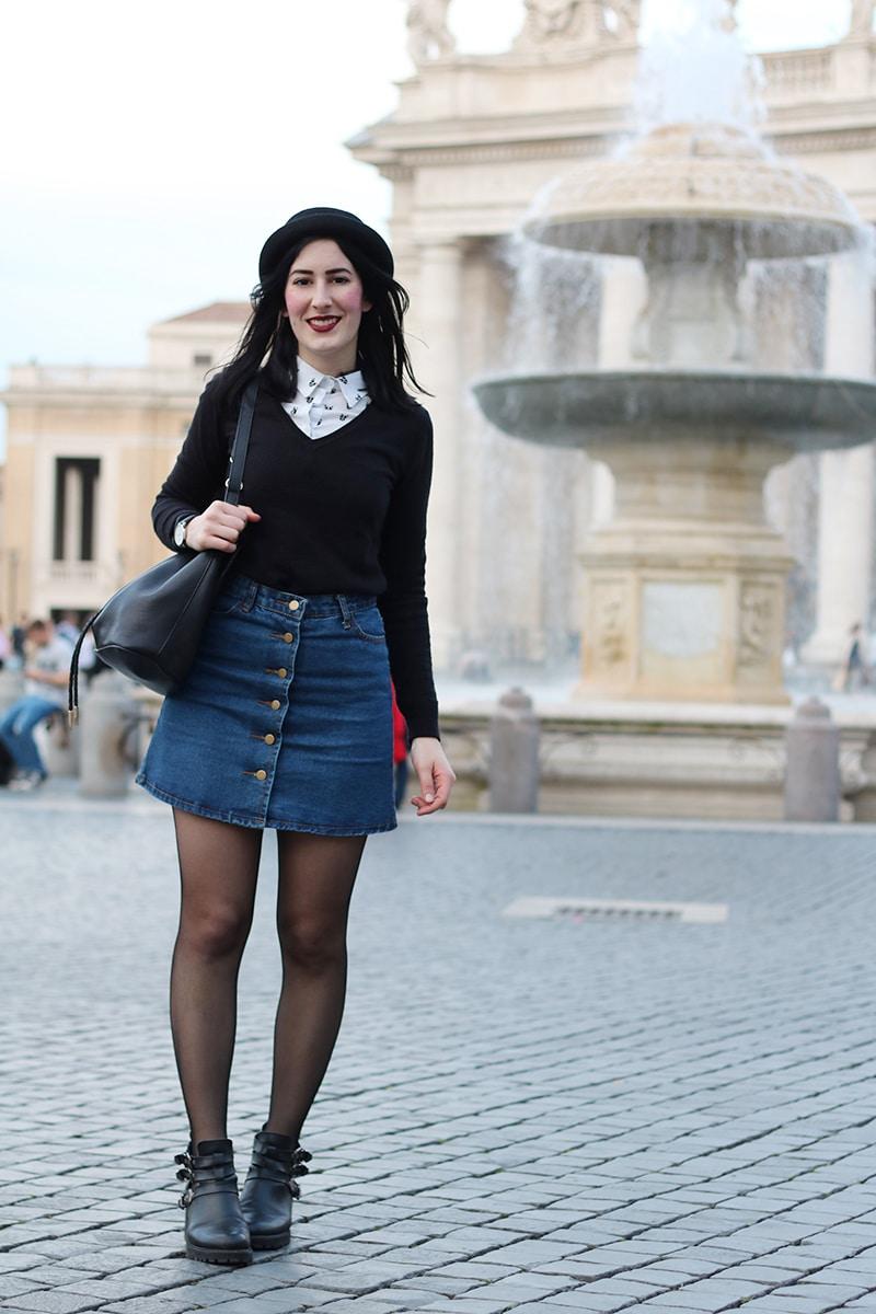 outfit-hipster-gonna-jeans--bombetta-borsa-secchiello-accessorize-4a