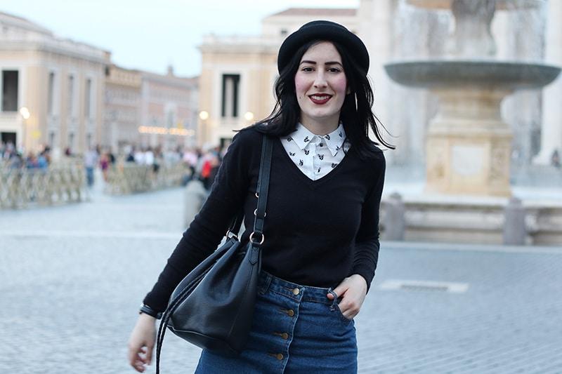 outfit-hipster-gonna-jeans--bombetta-borsa-secchiello-accessorize-6