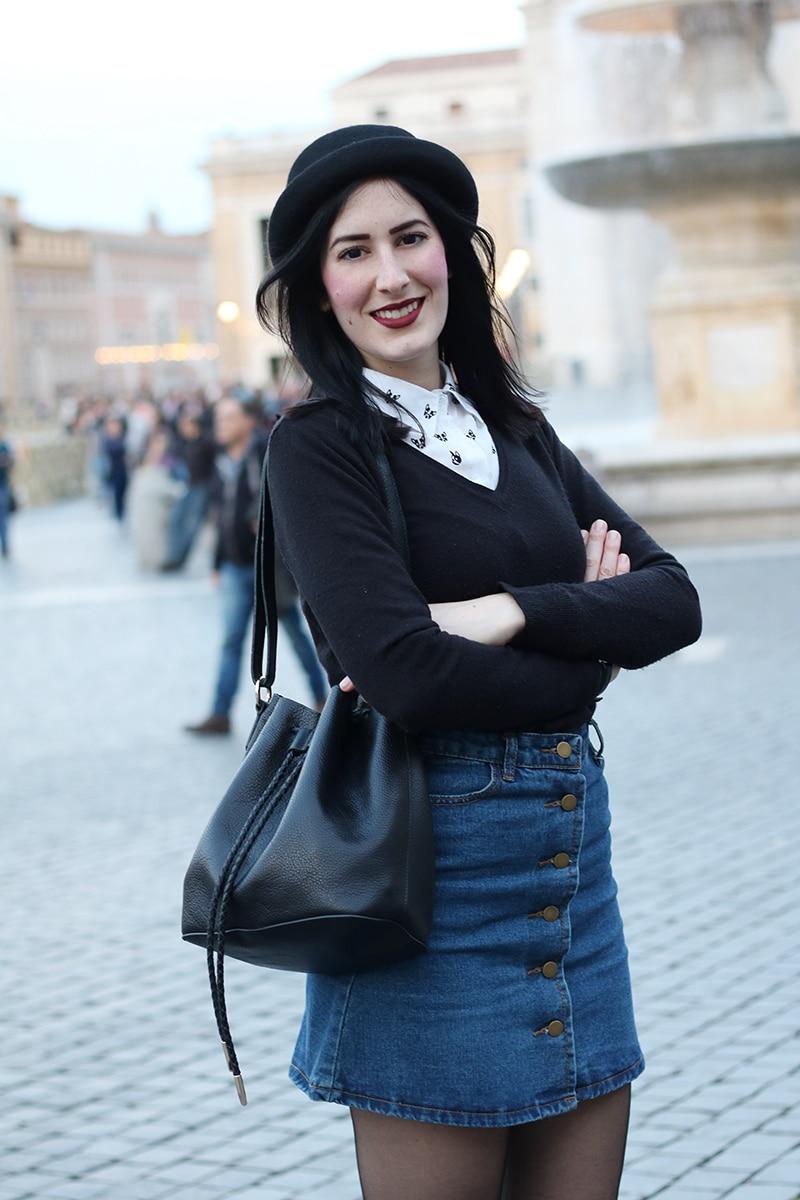 outfit-hipster-gonna-jeans--bombetta-borsa-secchiello-accessorize-9