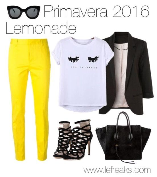 outfit primavera 2016 tendenze moda giallo