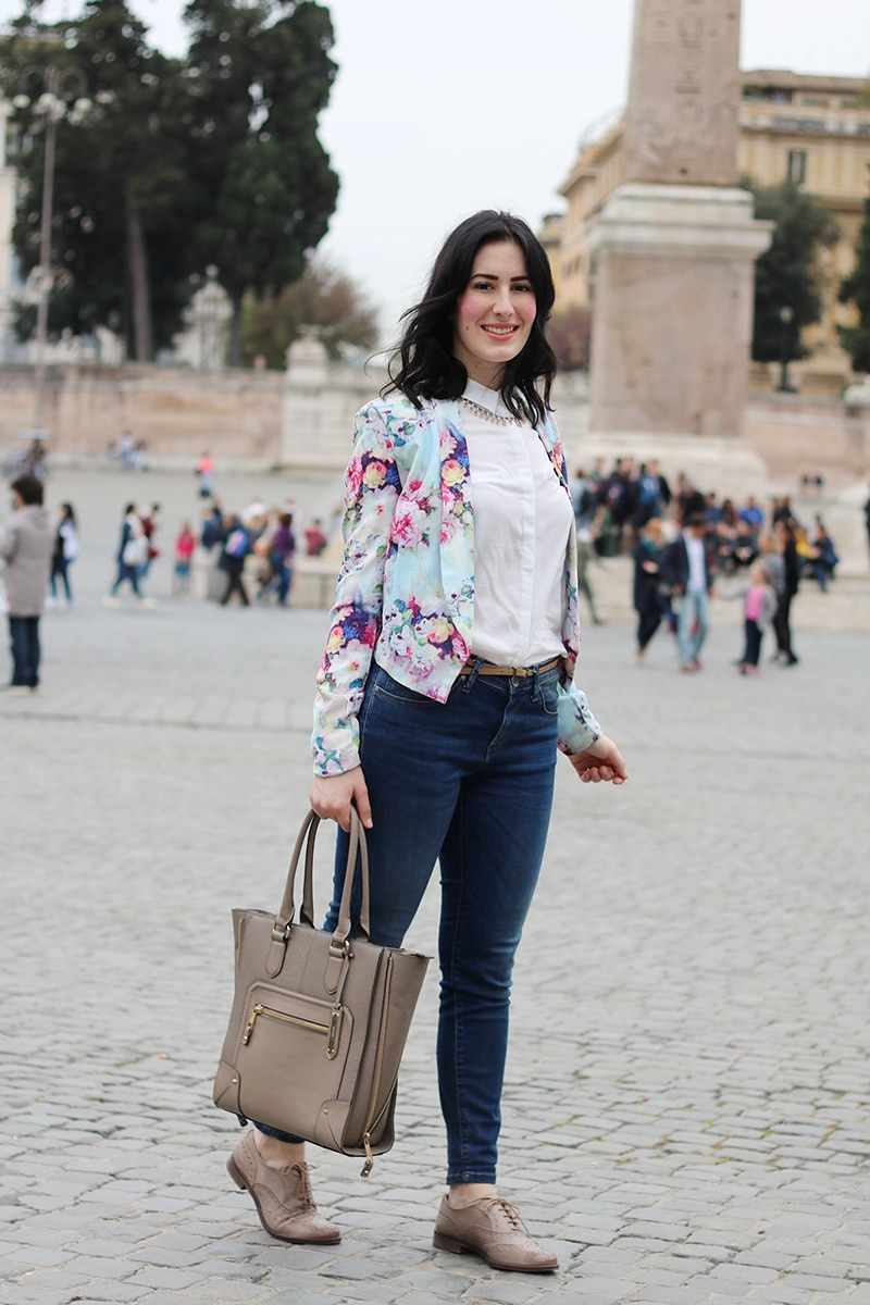 outfit-primavera-blazer-floreale-stringate-pittarello-fashion-blogger-roma-1