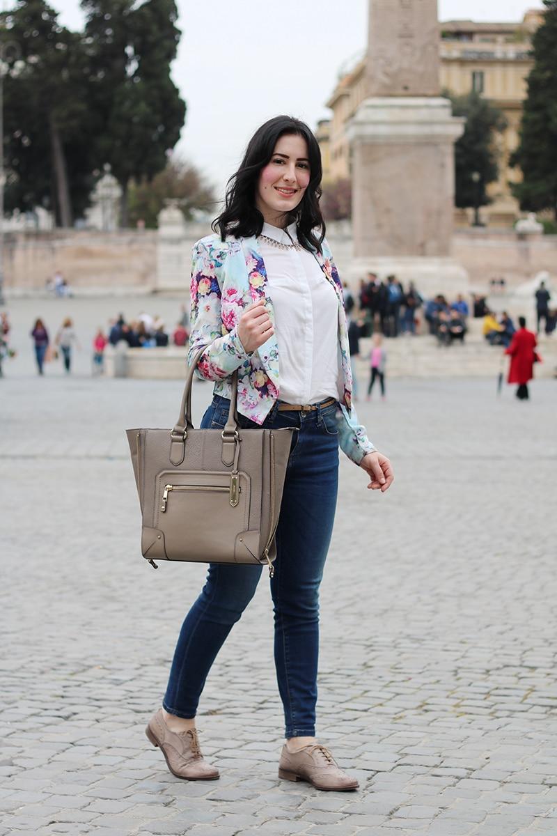 outfit-primavera-blazer-floreale-stringate-pittarello-fashion-blogger-roma-2