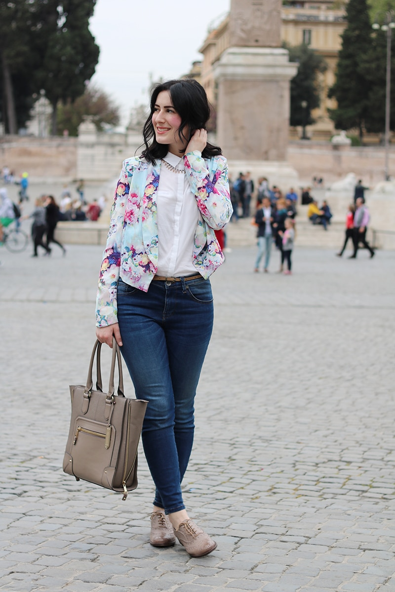 outfit-primavera-blazer-floreale-stringate-pittarello-fashion-blogger-roma-4