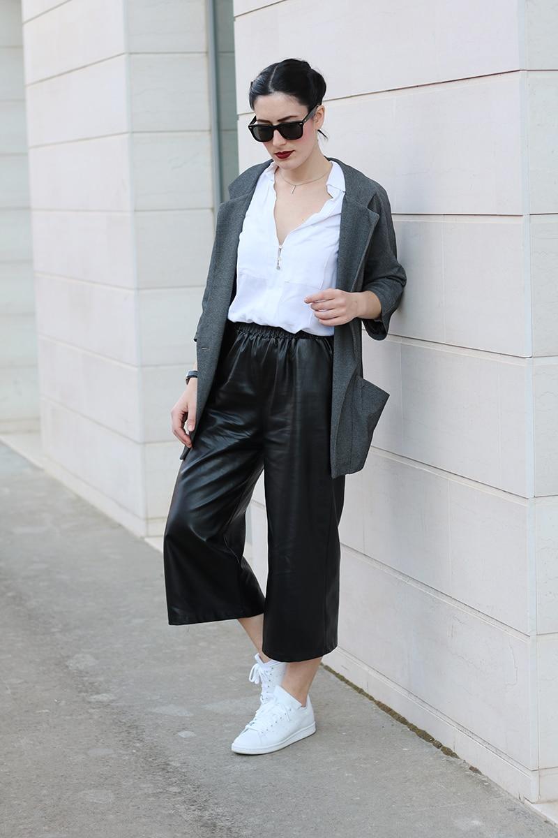 outfit pantaloni culotte stan smith trecce boxer braids