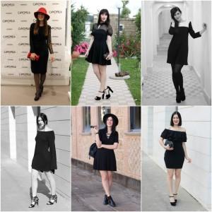 come indossare il tubino nero little black dress outfit