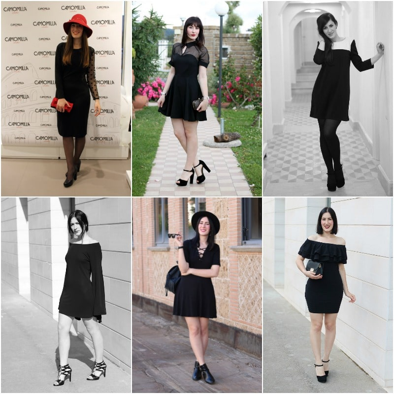 come indossare il tubino nero little black dress outfit