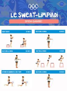 sweatlimpiadi kayla itsines esercizi workout gambe