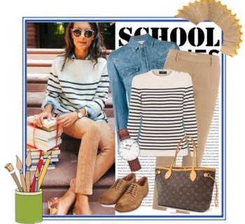 Outfit scuola stile elegante