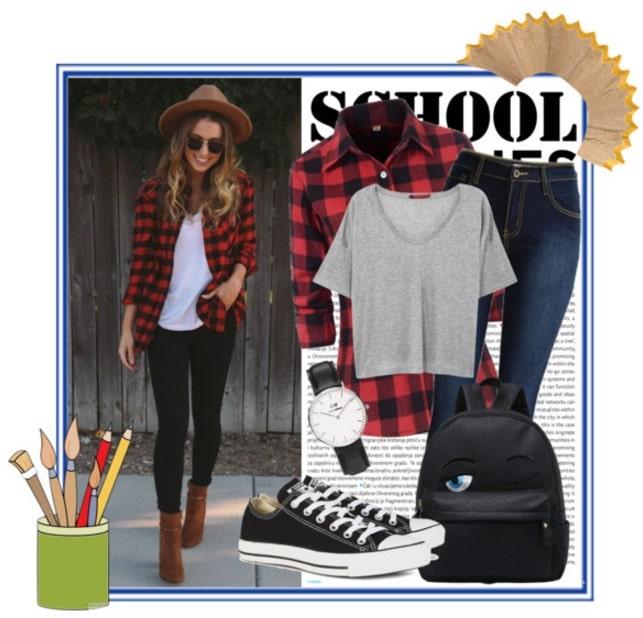 come vestirsi a scuola outfit casual grunge