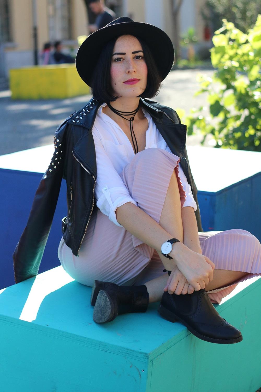 outfit pantaloni culotte plissettati shein