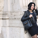 outfit universita little black dress roma coppedè